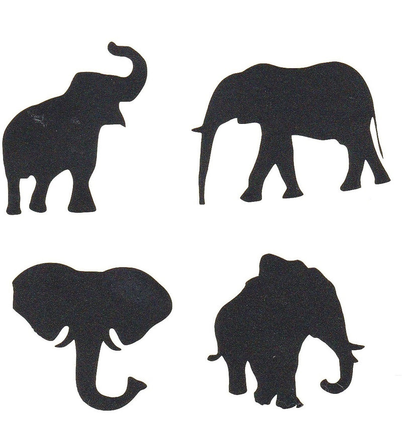 Elephant Vinyl Stickers ( Multiple colours to choose from )