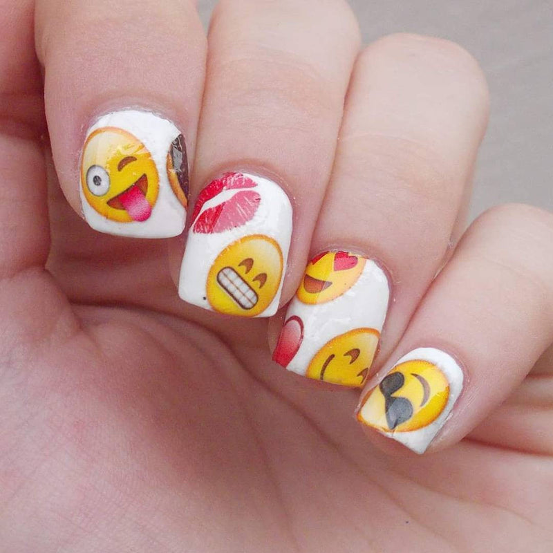 Emoji Code 2 Nail Art Emoticons
