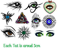 Eye Eye  Temporary Tattoos