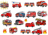 Fire Engine Temporary Tattoos