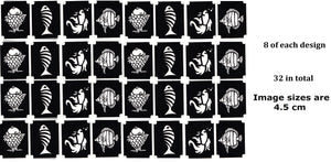 32 Fish Tattoo Stencils