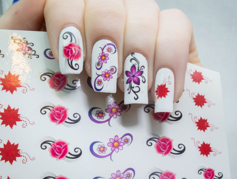 Flower Floral code 2 Nail Art