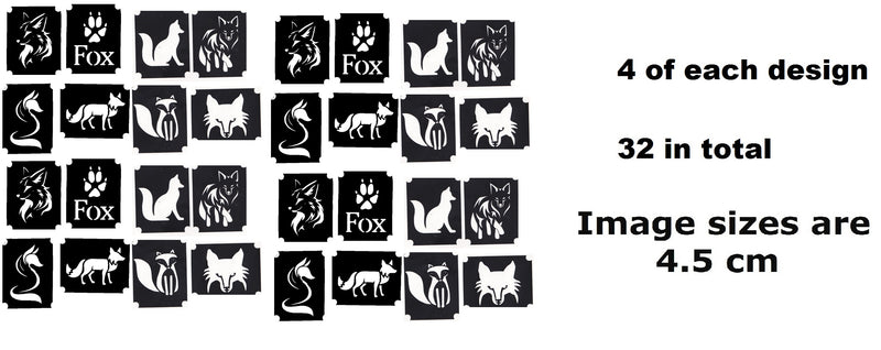 32 Fox Tattoo Stencils