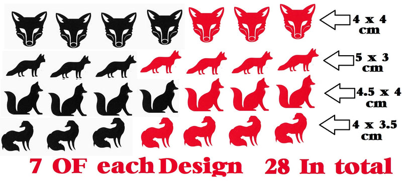 Fox Stickers (  Black and Orange   )