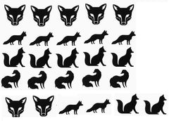 Fox Vinyl Stickers ( Multiple colours to choose from )