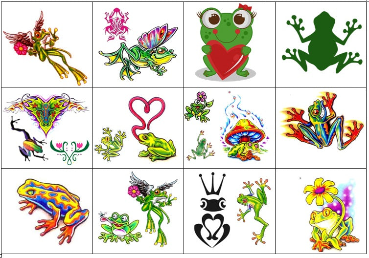 Frog Temporary Tattoos