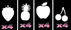 32  Fruits Tattoo Stencils