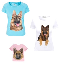 German Shepherd Alsatian Dog  Iron On Transfers