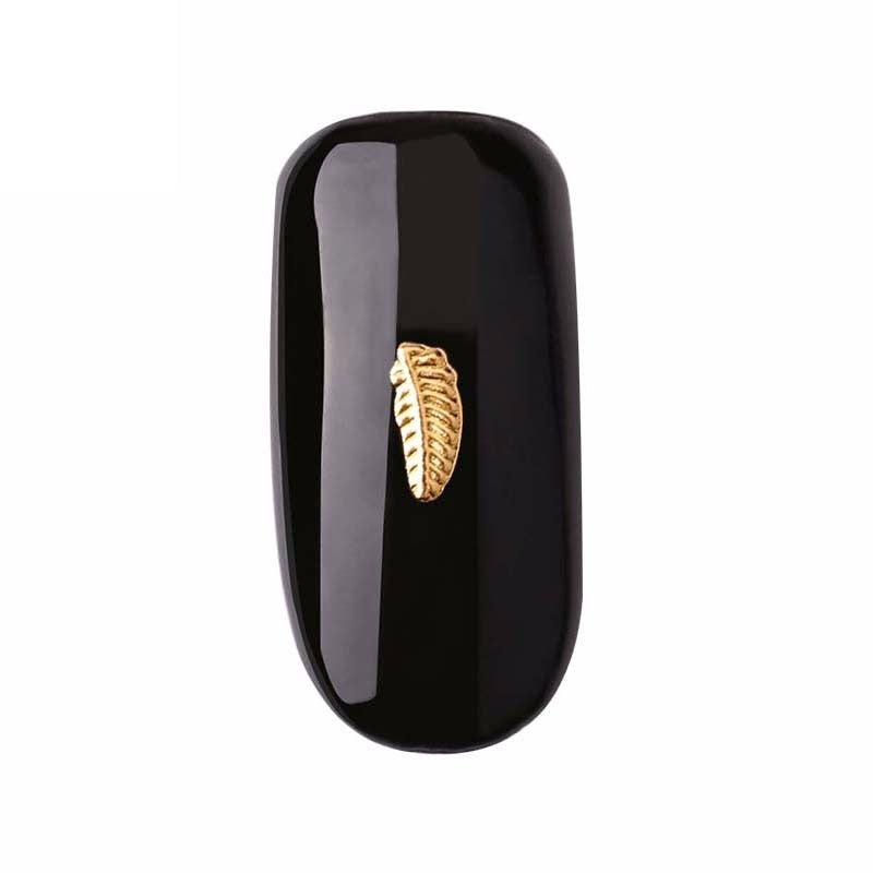 Gold feather Nail Gems  ( Pack of 20 ) Collection 33