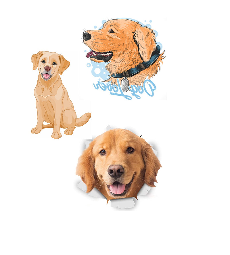 Golden Labrador Retriever  Iron On Transfers