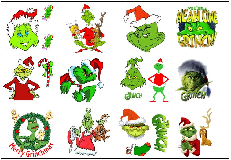 Grinch Temporary Tattoos