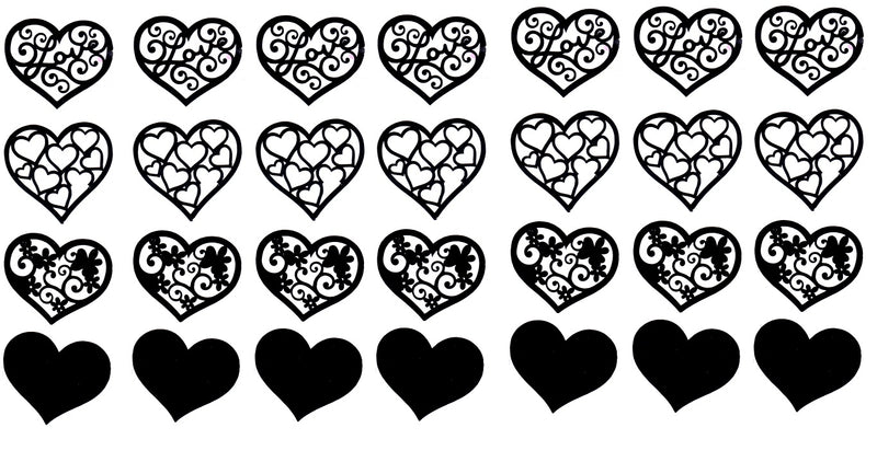 Hearts Love Valentines Vinyl Stickers ( Multiple colours to choose from )