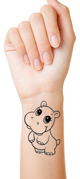 Hippo c2 Temporary Tattoos