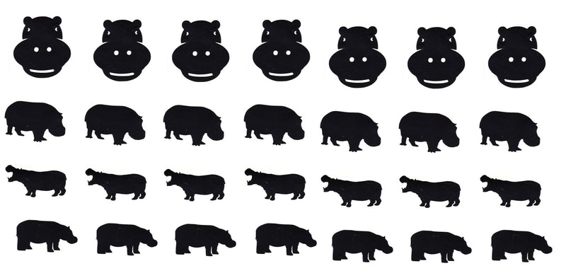 Hippo Vinyl Stickers ( Multiple colours to choose from )