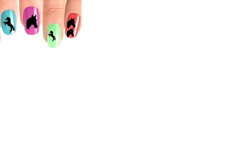 Horse ( Black ) Nail Stickers