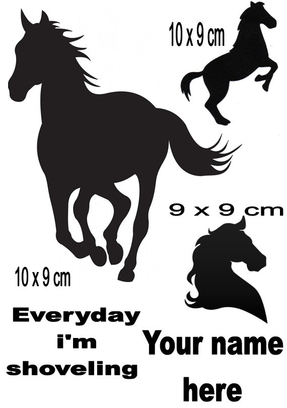 Horse Personalised  Iron On Transfer