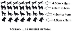 Husky Vinyl Stickers ( Multiple colours to choose from )