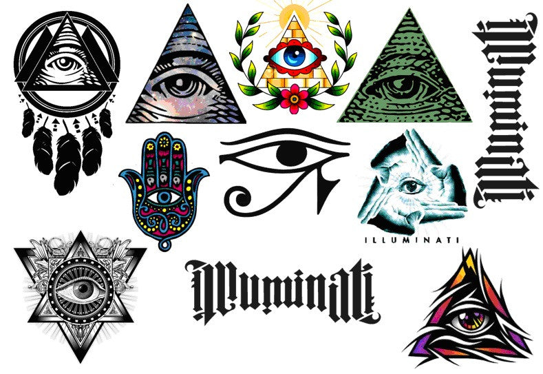 Illuminati Temporary Tattoos
