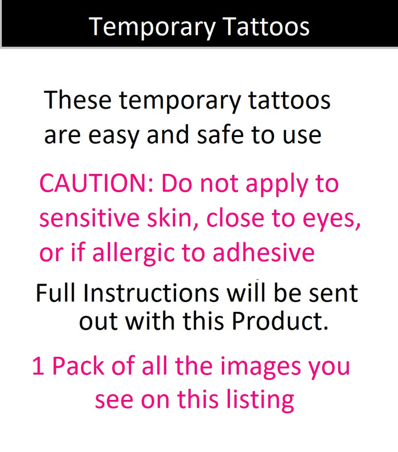 Bee c3 Temporary Tattoos