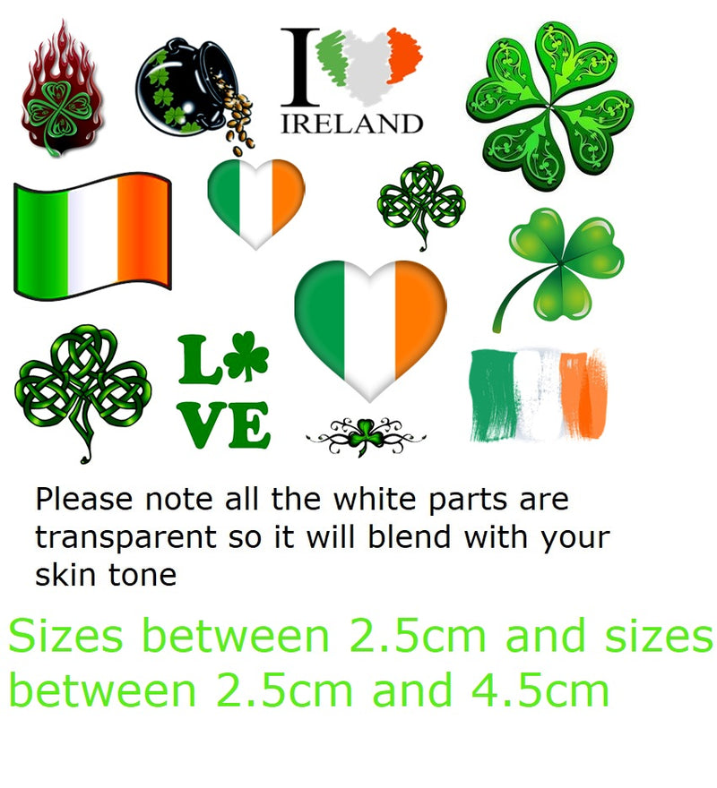 Ireland Temporary Tattoos