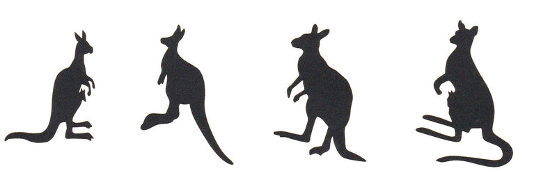 Kangaroo Stickers ( Black )
