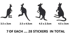 Kangaroo Vinyl Stickers ( Multiple colours to choose from )