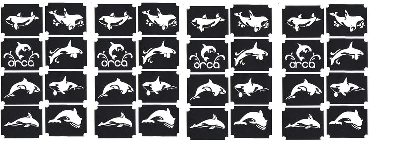 32  Killer Whale Orca Tattoo Stencils