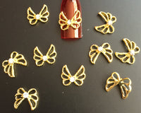 Bow Gold  Pack of 10 ) Collection 26