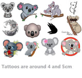 Koala Temporary Tattoos