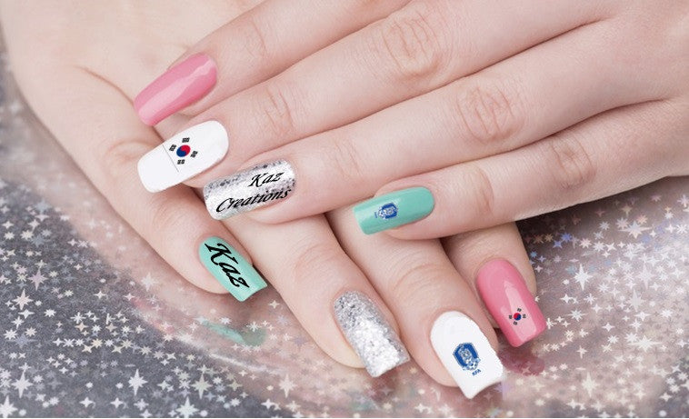 Korea Republic Nail Art