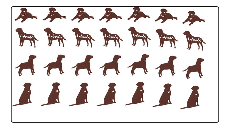 Labrador Dog  Retriever Vinyl Stickers ( Multiple colours to choose from )