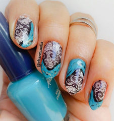 Lace Code 2 ( Cut To Size ) Nail Art