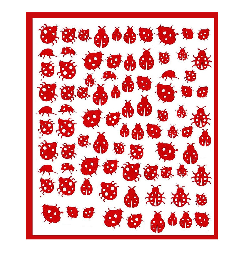 Ladybird Nail Stickers ( Red )
