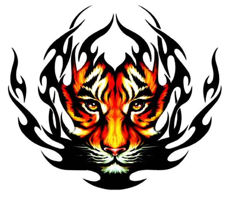 Tiger Large Temporary Tattoos