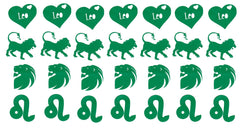 LEO  Vinyl Stickers ( Multiple colours to choose from )