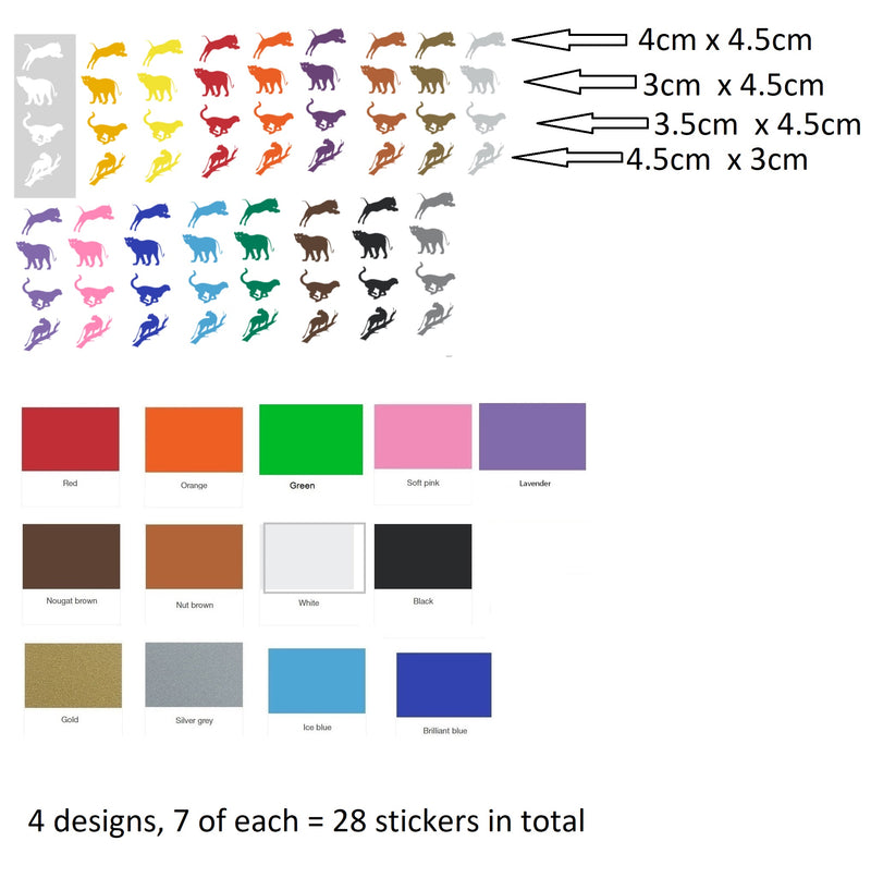 Leopard Vinyl Stickers ( Multiple colours to choose from )