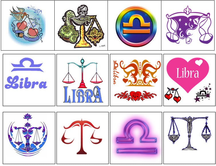 Libra Temporary Tattoos