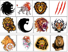 Lion Temporary Tattoos