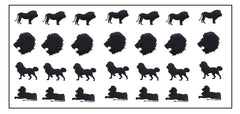 Lion Vinyl Stickers ( Multiple colours to choose from )