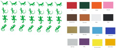 Lizard Vinyl Stickers ( Multiple colours to choose from )