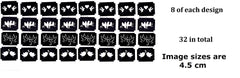 Lovebirds Tattoo Stencils pack of 32