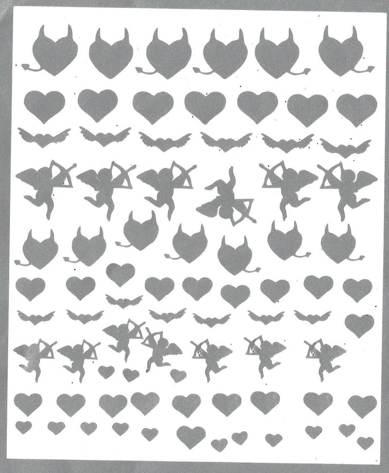 Love is in the air Hearts Cupid Valentines Nail Stickers