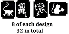 Monkey  Tattoo Stencils