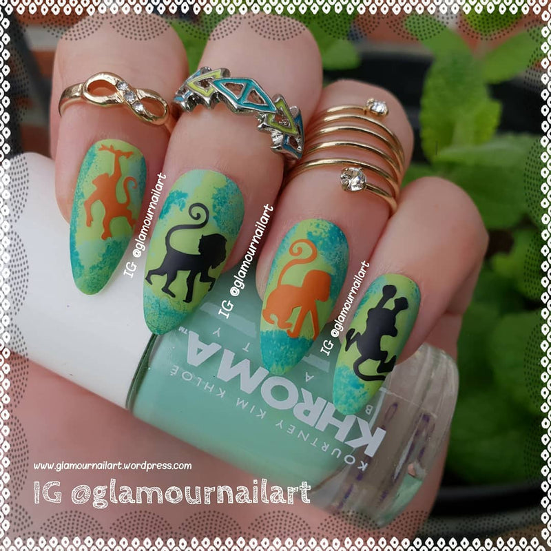 Monkey  Nail Stickers