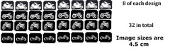 Motorbike Tattoo Stencils pack of 32