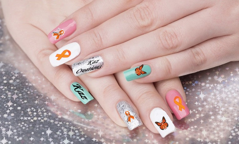 Multiple sclerosis MS Nail Art
