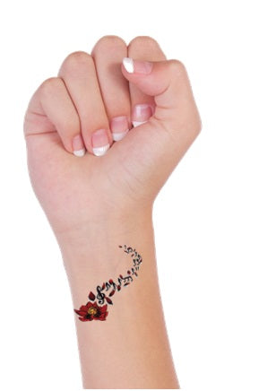 Musical Notes Temporary Tattoos