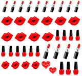 Nail Polish and Lipstick  Nail Art