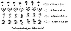 Palm Tree Vinyl Stickers ( Multiple colours to choose from )