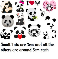 Panda Temporary Tattoos